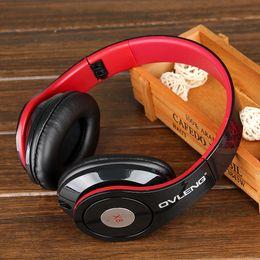 Wholesale 2016 hot sale Luxury Stylish Ovleng X8 Fashion Foldable Headphones w Mic for Smart Phone iPod Computer Black Red