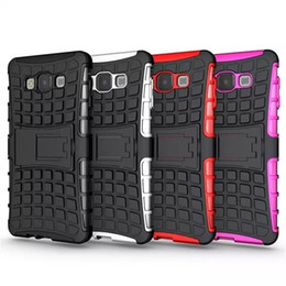 Black Rugged Hybrid Hard Case For Samsung Galaxy A3 A5 A7 Case with Holster Stand 2 in 1 Heavy Future Armor Robot Cover