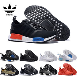 Wholesale 2017 Discount Cheap NMD Runner PK black white S79168 Men s Women s Classic Cheap Fashion Sport Shoes With Box