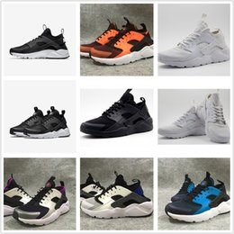 Wholesale Hot Sale Air Huarache Run Ultra Black White Man And Woman Casual shoes AH Running Shoes Huarache Run Ultra BR summer walking Shoe