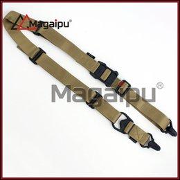 Wholesale MRG GEN1 Tactical Point Rifle Sling System Strap Adjustable Hunting Bungee Airsoft Gun Sling Nylon Gun Strap Dark earth