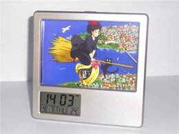 Wholesale New Kiki s Delivery Service Creative Digital Alarm Clock Multi function Desk Clock Calendar Pen Holder Photo Frame Alarm Clock