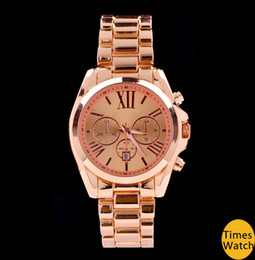 Wholesale Famous brand M wrist gold stainless steel Men women wrist quartz watch luxury rose gold fashion watch