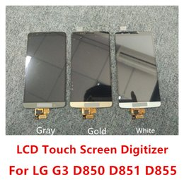Wholesale Original NEW LCD Display Tools For LG G3 D850 D851 D855 VS985 LS990 LCD Display Touch Digitizer Screen Assembly