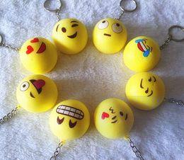 Wholesale Lovely Emoji Smiley keychains Telephone Pendant Car Key Chain Mix Style Hot selling Via FedEX Ship