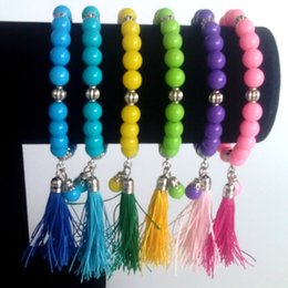Wholesale Fashion Jewelry Colorful Fringed Acrylic Bracelet 8mm Summer Fashion Charm Bracelet Beads Free Shipping