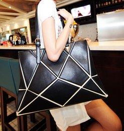 Wholesale 2016 designer Euro bags fashion cubic totes bags designer handbags geometric drawing handbag beautiful cube shoulder bags totes bags