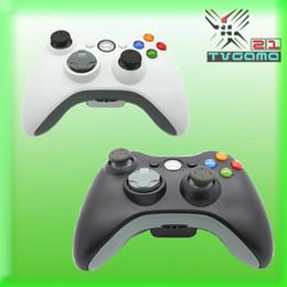 Para la manija sin hilos original del regulador de XBOX 360 Gamepad restablecido para la palanca de mando xbox360 blanco y negro Envío libre desde blanco xbox palanca de mando fabricantes