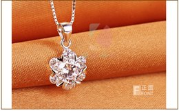 lingdong Beautiful snowflakes dancing pendant 2016 new 925 Sterling Silver Chain Necklace Jewelry box gift for Valentine's Day Free shipping