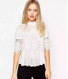 2016 spring boutique type single Japan South Korea Sen Department of women's wholesale five shirt sleeve blouse