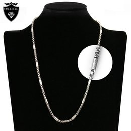 Wholesale Crystal Necklace Pendents - 2016 Hot Sale 60cm Silver Popcorn Chain for Necklace Pendents Men Women Fashion Jewelry Accessories Long Stainless Steel Cable Chains