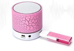 DHL 10PCS LOT Mini Bluetooth Speaker MP3 Player LED Flashing Light Bass For iPhone 7 Galaxy S7