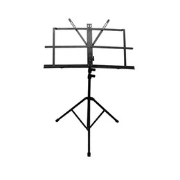 Enhanced Version Black Adjustable Folding Portable Sheet Music Stand With Carrying Bag