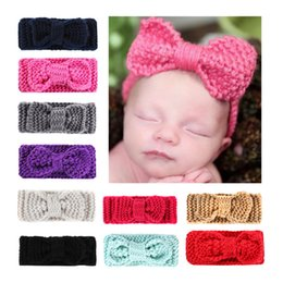 girls hair accessories crochet bow baby headband baby headband Ear Warmer crochet head wrap for kids