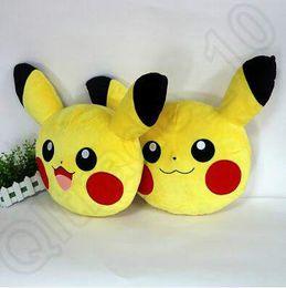 Wholesale 2 Designs cm Poke Plush Pillow Pikachu Pillow Cushion Cartoon inches Pikachu Stuffed Animals Pocket Monster Pillows LJJC4782