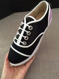 Wholesale best version U524 GENUINE LEATHER PEARL OXFORD PLATFORM SHOES c flats casual sneakers canvas luxury designer espadrilles