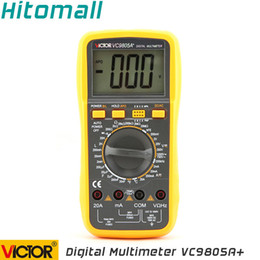 Wholesale Professional Manual Range Counts A V Resistance Capacitance Inductance Temperature Victor Digital Multimeter VC9805A