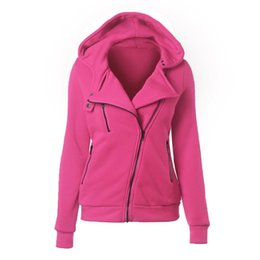 Wholesale Cashmere Hoodie Women - Sweatshirt clothes hoodie Sweater Zipper Woman Leisure Time Solid Color Even Midnight sudaderas hoodies cotton sport women long sleeve
