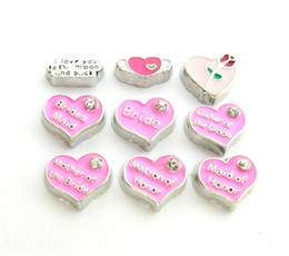 New Design FC879 floating locket charms 10pcs mixed styles wedding series for floating living locket as gift wholesales free shipping