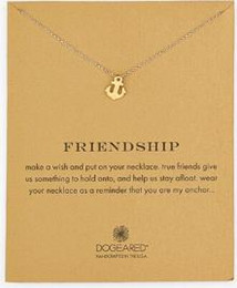 Dogeared Necklace with boat anchor (friendship), silver and gold color, no fade, free shipping and high quality.