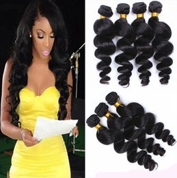 100% Unprocessed Brazilian Loose wave Hair Bundles Brazilian Hair Extensions Human Hair Weave Natural Color Loose Wave Loose Curly