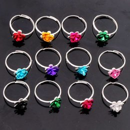 Wholesale 100pcs Fresh New Colorful Little Flower Ring Adjustable Size Band Rings Jewelry DIY NEW R3088