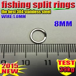 Fishing Lure Accessories 304 stainless steel Split Rings 8 MM good1000 PCS  lot 2016 new arrial