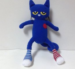 Wholesale 35cm Children Picture Books pete the cat Stuffed Animals Plush Movies TV Toys New Arrival Anime Soft Toys Cotton Movie Dolls Kids Gift