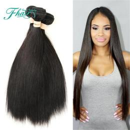 Promotion 22 pouces extensions de cheveux longueur 8A Cheveux raides mongols 3 paquets Extensions de cheveux humains Longueur 10 à 30 pouces Livraison gratuite DHL Future Time Beauty Hair Products