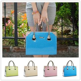 Brand new high-end fashion style atmosphere glossy patent leather women handbag shoulder messenger bag pearl jelly BAG142