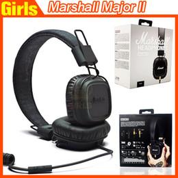 Wholesale Marshall Major MK II Black Headphones New Generation Headset Remote Mic nd pk MARSHALL MONITOR Se215 AAA quality