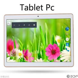 Promotion tablettes quad core Lenovo Tablet 10.1 pouces 3G Quad Core Tablet PC Android 4.4 2GB / 32GB WiFi GPS FM Bluetooth Téléphone Appel Tablets PC DHL Flip Case Gratuit