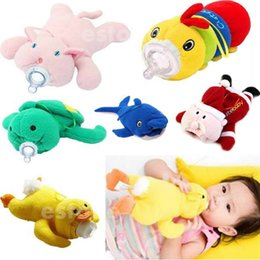 Wholesale New Fashion Baby Feeding Bottle Insulation Bag Animal Plush Toy Thermal Bags For Babies Bottles Thermos Holder