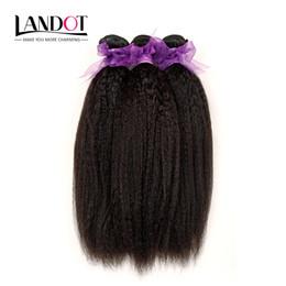 Brazilian Kinky Straight Human Hair Weave Bundles 7A Unprocessed Peruvian Malaysian Indian Italian Coarse Afro Yaki Straight Hair Extensions