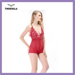 Wholesale Sex School Girl Lingerie Lingerie New Design Bulk v neck Mesh Sleeveless Baby doll Lingerie in sizes