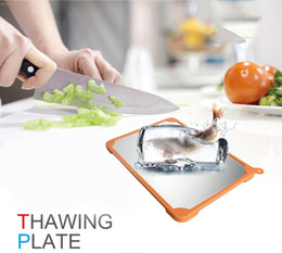 Thawing Plate Fast Frozen Food Board Nature Preservation Anti Bacterial Aluminum Food Grade Material 30x21.5cm Kitchen Creative Gadgets Home