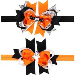Descuento las cabezas de flor clips La nueva llegada de Halloween Flower Flower Hair Clip Cabritos Bow Headdress cabeza de dibujos animados Barrettes Princesa Hair Accesorios Child Cartoon Bat Ghost Horquilla