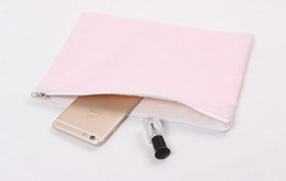 pure color canvas cosmetic Bags DIY blank plain zipper makeup bag phone clutch organizer bags Gift travel cases pencil pouches for men women
