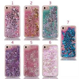 Wholesale Quicksand Dynamic Liquid TPU Soft Case For Iphone7 plus Sand Glitter Star Bling Diamond Stone Cover Skin