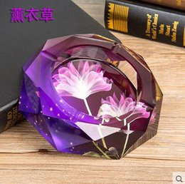 Wholesale 2016Crystal ashtray home decoration beautiful and durable home and office supplies support mixed batch diameter of meters