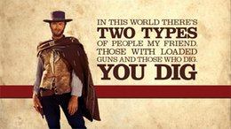 Wholesale The Good the bad and the ugly Clint Eastwood western x36 inch Silk Poster wall decor