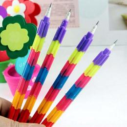 20pcs  Lot 1pcs= 8 mini pencils Building Block Pencils Pencil Kid Children Prize Gift Creative Stationery