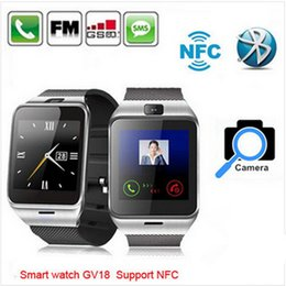 GV18 Bluetooth Smartwatch DZ09 Q18 Smart watch Wrist Watch with camera android support SIM NFC for iPhone7 Android Smart Phone HTC