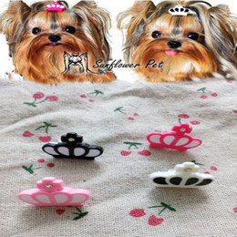 Wholesale New Resin Crown Dog Bows Dog Grooming Bows Accessories , Pet Dog Hair Clips Summer Clothes Accessories 50pcs lot