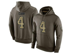 Canada Men Salute To Service Team Pullover Hoodie # 4 Tous Team Oilve Taille de la couleur S - XXXXL Hoodies de football Mix Match Order High Quality Jerseys cheap team services Offre
