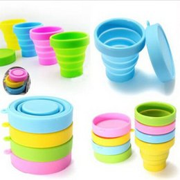 Portable Silicone Retractable Folding Cup Telescopic Collapsible Candy Outdoor Camping Travel & Garden Fitting Tableware foldable cup