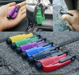 Wholesale Lifesaving Car Emergency Hammer Keychain Break Safety Auto Window Glass Rescue Hammer Tool with Belt Cutter