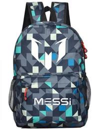 Wholesale Lionel Messi Logo Barcelona Bag Casual Laptop Backpack Schoolbag Sack