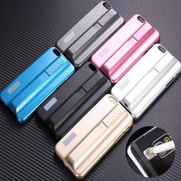 Wholesale Iphone s metal flameless cigar lighter cases USB electronic charging cigaretta lighter covers for iphone s plus samsung s4 e