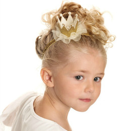 Wholesale 2016 New Tiaras Christmas Gift Children Hair band Accessories Hairpiece Kid Lace Headbands For Girls Hair Head Bands Baby Hair Accessor